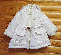 Детская куртка для девочки зима Турция (рост 80, 86, 92, 98)