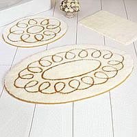 Коврик для ванной комнаты круглый ALESSIA 3 предмета