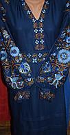 """Вишита сукня """"Фантазія на синьому"""""""