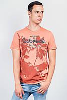 Футболка мужская яркая с принтом AG-0003682 Оранжевый варенка