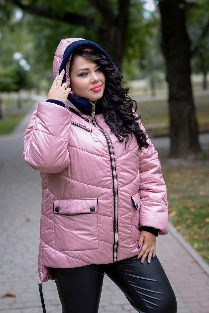 Женская зимняя куртка прямого кроя в больших размерах 1015185r