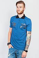 Поло мужское, тенниска, много цветов AG-0003768 Сине-черный