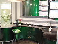 """Кухня """"зеленый перламутр"""""""