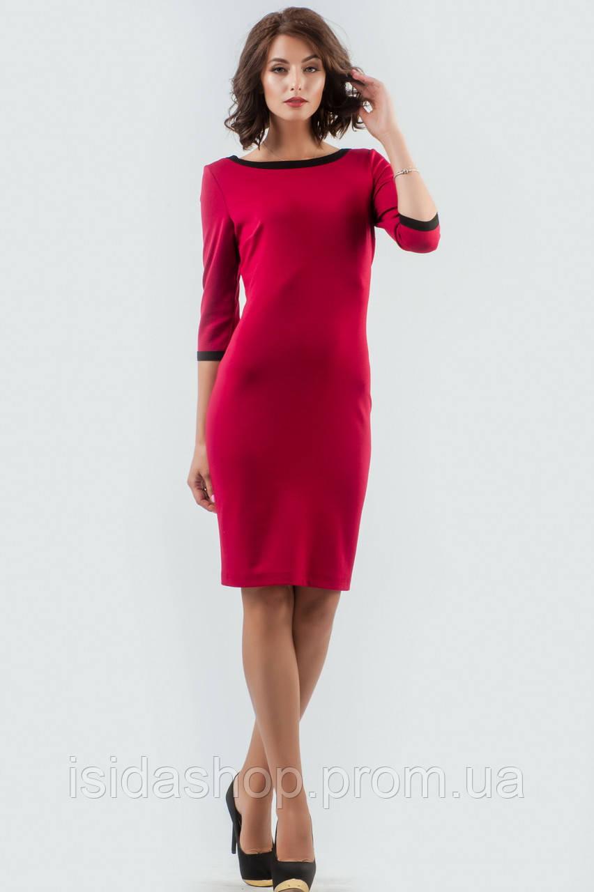 c02954510ea195f Платье футляр коктейльное на молнии вишневое, цена 799 грн., купить ...