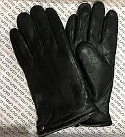 Перчатки мужские, кожаные, зимние, утеплённые (внутри натуральный мех)