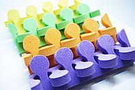 Растопырки, разделители для пальцев ног на педикюре, цвет в ассортименте