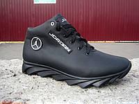 Зимние кожаные мужские кроссовки JORDAN