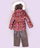 """Зимний костюм """"Эльза"""" для девочки принт в синем цвете. Размер 80/86 (1-2 года)"""