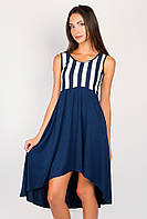 Платье женское свободный силуэт AG-0003961 Темно-синий