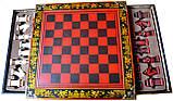 Шахматы антиквариат 44*44 см китайские подарочные (столиком), фото 4