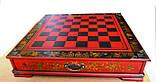 Шахматы антиквариат 44*44 см китайские подарочные (столиком), фото 5