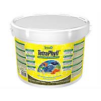 Корм Tetra Phyll для растительноядных рыб в хлопьях, 10 л