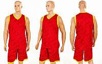 Форма баскетбольная мужская Camo LD-8003-5 (PL, р-р L-5XL, красный)