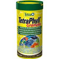 Корм Tetra Phyll Granules для растительноядных рыб в гранулах, 250 мл, фото 1