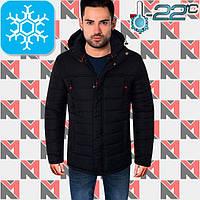 Зимняя мужская куртка - 1701 темно-синий