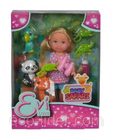 """Кукольный набор Эви """"Африканские животные"""" с аксес., 3+"""