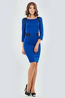 Платье деловое футляр цвет электрик