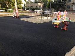 Устройство бесшовного покрытия для детской площадки 6