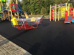 Устройство бесшовного покрытия для детской площадки 8