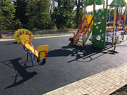 Устройство бесшовного покрытия для детской площадки 12