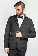 Пиджак мужской классический офисный AG-0004034 Черно-зеленый