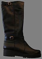 Женские кожаные сапоги зимние на платформе Л - 26С