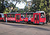 Реклама на трамвае №1 в Днепре