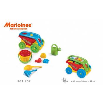 """Дитяча машина """"Гобо з набором для піску"""". Матеріал пластик. Польща. Гарантія якості. Швидка доставка."""