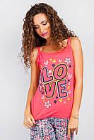 Майка пижамная яркая AG-0004067 Розовый