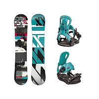 Сноуборд комплект Volkl Spade + Straptec Initial teal 2017