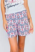 Шорты женские пижамные AG-0004071 Бело-розовый