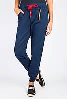 Брюки женские однотонные с карманами AG-0004080 Темно-синий