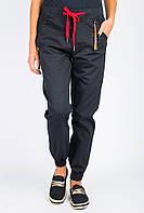 Брюки женские однотонные с карманами AG-0004080 Черный