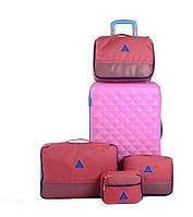Набор сумок - органайзеров /4шт/. Коралл.