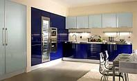 Встроенная синяя кухня