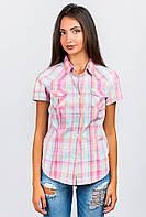 Рубашка женская розовая клетка AG-0004094 Розово-мятный