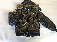 Курточка зимняя с мехом 4-10 лет