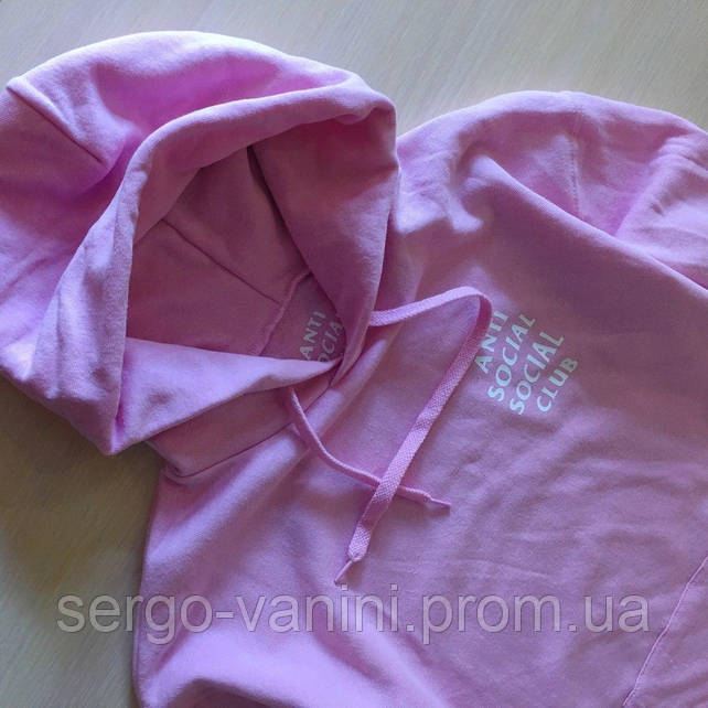 ASSC худи розовая • Бирки • Живые фотки толстовки • Anti Social Social Club Pink