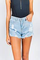 Шорты женские модные с карманами AG-0004105 Голубой