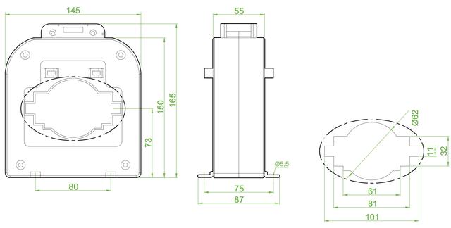трансформатор тока измерительный размер