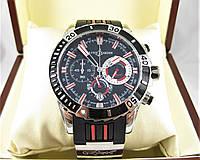 Часы Ulysse Nardin Diver Chronograph 45mm (Кварц) Silver/Black. Класс: AAA