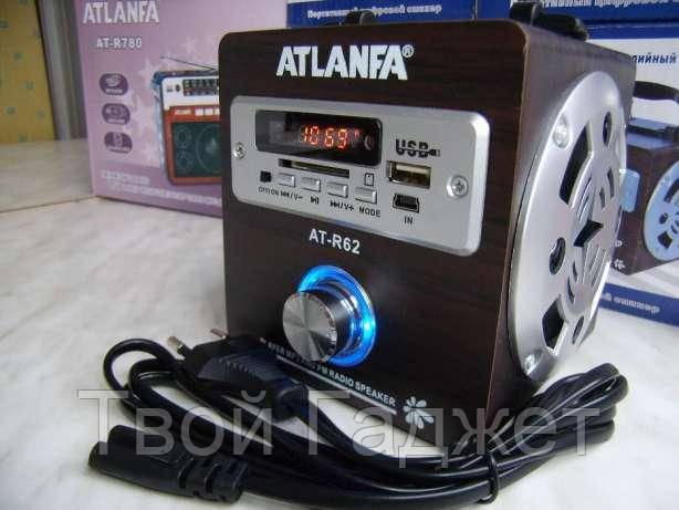 Портативная колонка с двумя активными колонками. USB\SD\AUX ATLANFA AT-R62