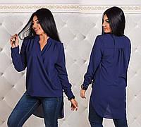 """Стильная женская блуза-туника в больших размерах 1159 """"Креп Запах"""" в расцветках"""