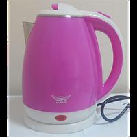 Чайник електричний нерж. с пластиковым покрытием (1,8 л; 2 кВт) Defiant DEK1820-11_розовый