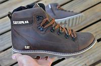 Коричневые матовые ботинки Caterpillar