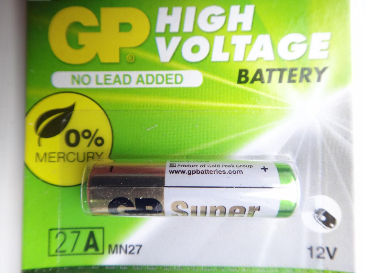 Батарейка GP 12V 27A Alkaline 27AF-2C5