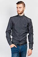 Рубашка темная классика AG-0004172 Черный