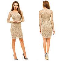 Платье из гипюра приталенное