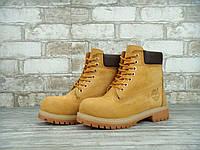 Зимние женские ботинки Timberland 6 inch Yellow Winter (Искусственный мех)
