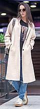 Женское демисезонное пальто с разрезами на молнии, фото 3